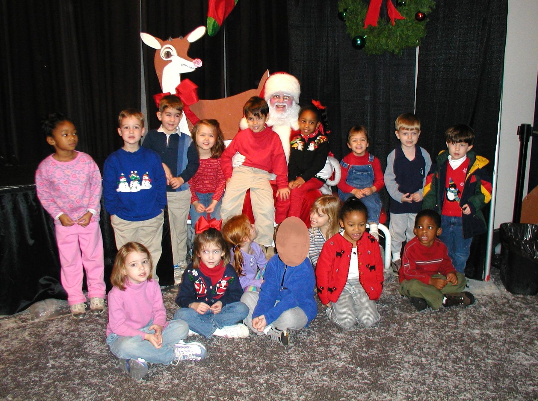 Ms. Joy's Class with Santa!