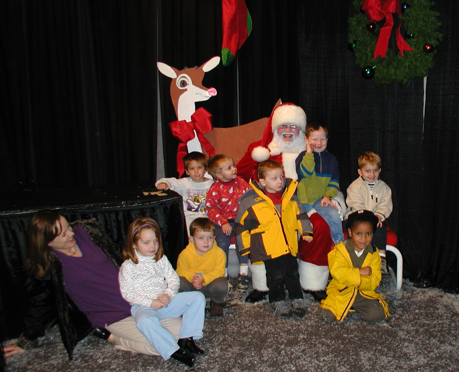Ms. Debra's Class with Santa!
